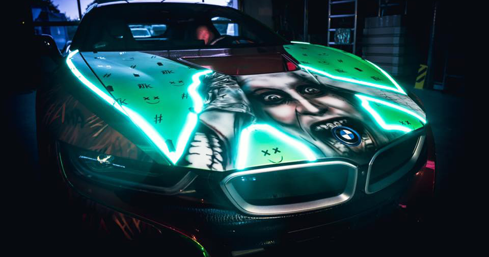 小丑上身!Rene Turrek 打造 BMW i8「Joker」!